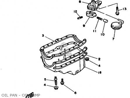 Yamaha Engine V6 4.3 Yems 1990 parts list partsmanual