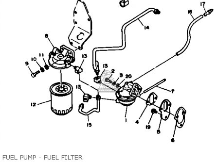 Yamaha Engine V8 5.7 1990 parts list partsmanual partsfiche