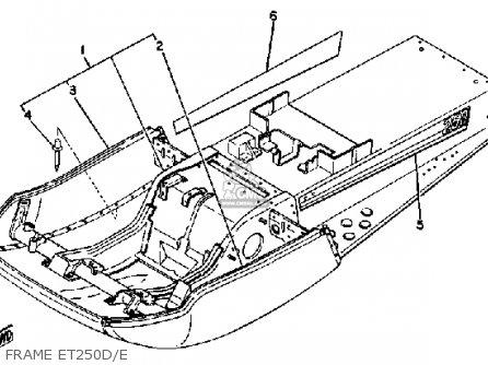 Yamaha Et250d 1979-1981 parts list partsmanual partsfiche
