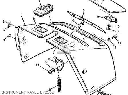 Yamaha Et250e 1979-1981 parts list partsmanual partsfiche