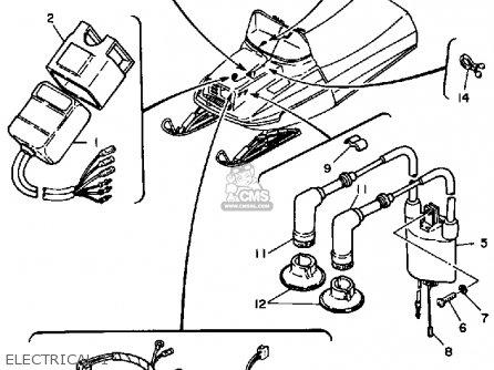 Yamaha Et300d 1980 parts list partsmanual partsfiche