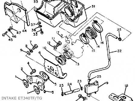 Yamaha ET340 TF ENTICER 1982/1983 parts lists and schematics