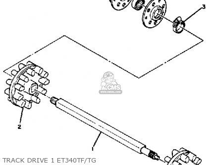 Yamaha Et340 Tf Enticer 1982/1983 parts list partsmanual