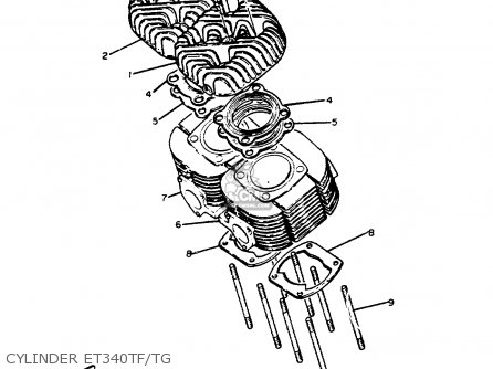 Yamaha ET340 TG ENTICER 1982/1983 parts lists and schematics