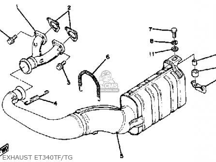 Yamaha Et340 Tg Enticer 1982/1983 parts list partsmanual