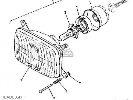 Yamaha Et340d 1980 parts list partsmanual partsfiche