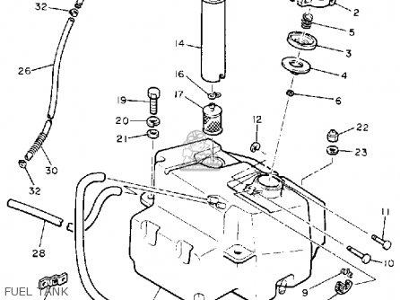 Yamaha Et340tk Enticer 1984/1986 parts list partsmanual