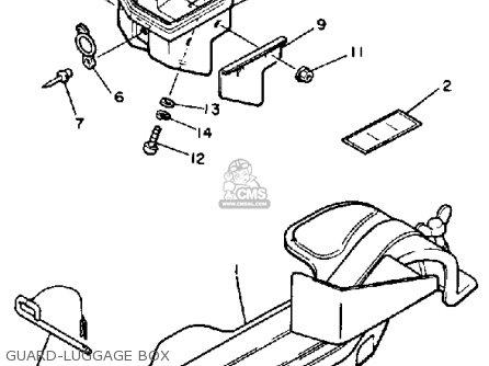 Yamaha Et400trn Enticer 1989 parts list partsmanual partsfiche