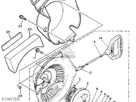 Yamaha Et410trs Enticer 1992 parts list partsmanual partsfiche