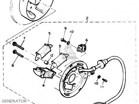 Yamaha ET410TRT ENTICER 1993 parts lists and schematics