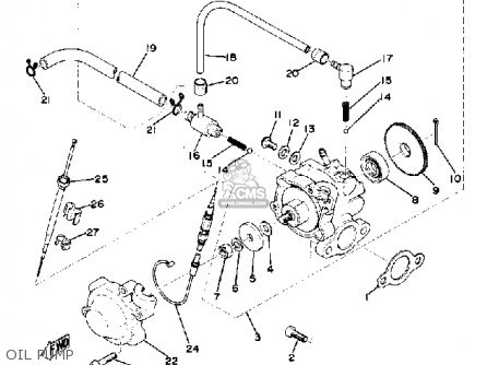 Yamaha Ex340 1976/1977 parts list partsmanual partsfiche