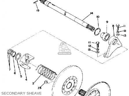 Yamaha Ex440 1976/1977 parts list partsmanual partsfiche