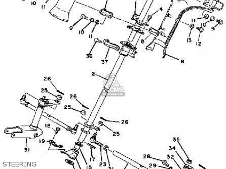 Yamaha Ex440c 1979 parts list partsmanual partsfiche