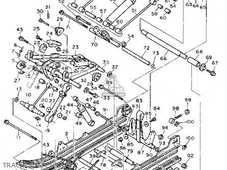 Yamaha Ex570em Exciter 1988 parts list partsmanual partsfiche