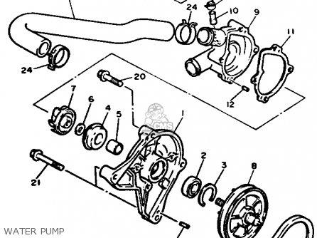 Yamaha EX570ER EXCITER 1991 parts lists and schematics
