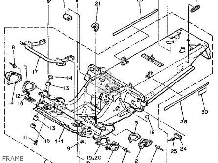 Yamaha Ex570l Exciter 1987 parts list partsmanual partsfiche