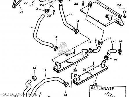 Yamaha EX570T EXCITER 1993 parts lists and schematics
