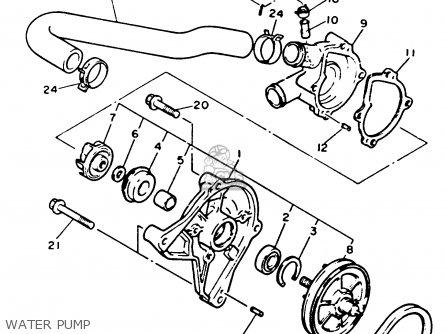Yamaha Ex570t Exciter 1993 parts list partsmanual partsfiche