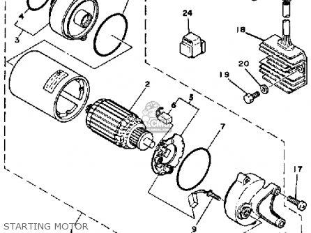 Yamaha Exciter 1 Sr250h 1981 parts list partsmanual partsfiche