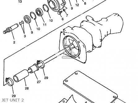 Yamaha Ext1200x 1999 parts list partsmanual partsfiche