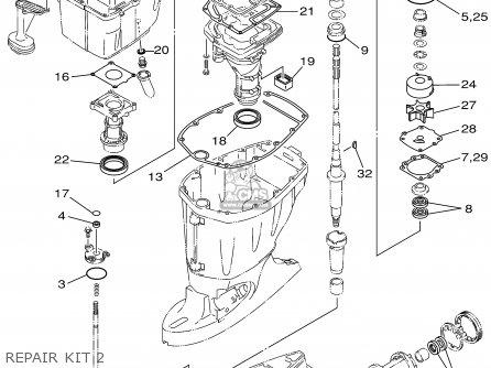 Yamaha F115tlra/txra/lf115txra 2002 parts list partsmanual