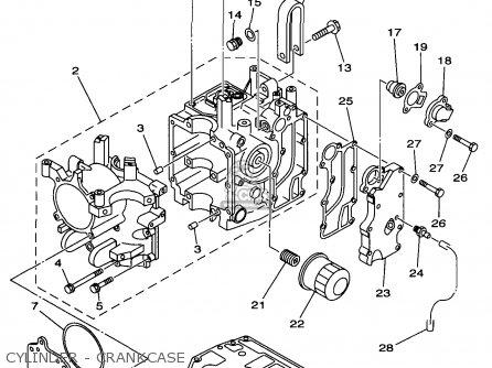 Yamaha F25EH/ER/TRW 1998 parts lists and schematics