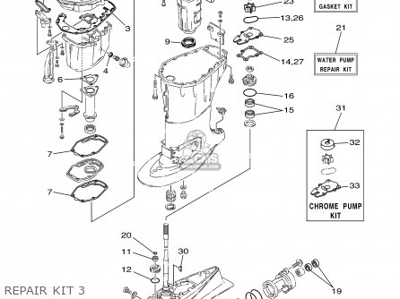 Yamaha F60tlrb/tjrb 2003 parts list partsmanual partsfiche