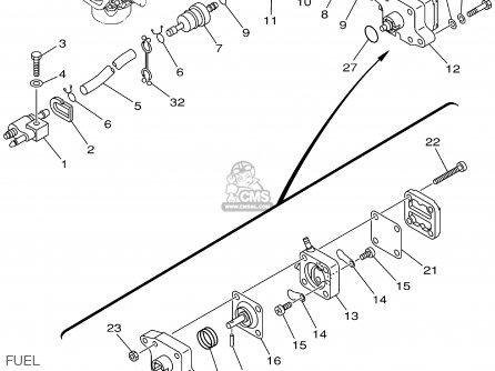Yamaha F6/8mhz 2001 parts list partsmanual partsfiche