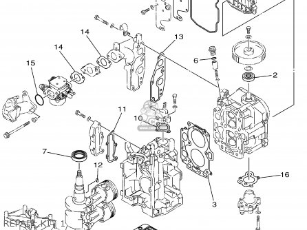 Yamaha F6/8MHZ 2001 parts lists and schematics