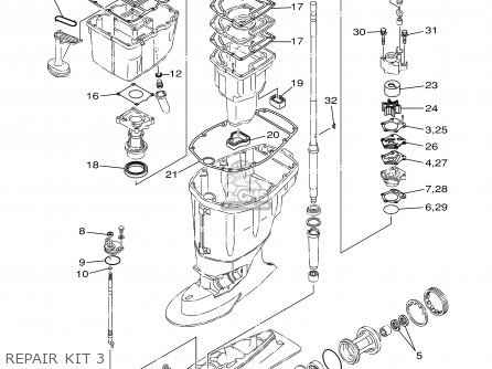 Yamaha F80/f100tlry 2000 parts list partsmanual partsfiche