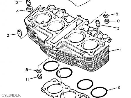 Yamaha FJ1100 1985 USA parts lists and schematics