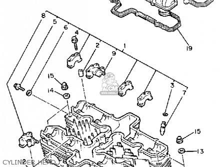Yamaha Fj1100l 1984/1985 parts list partsmanual partsfiche