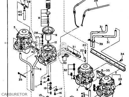 Yamaha FJ1200 1986 USA parts lists and schematics