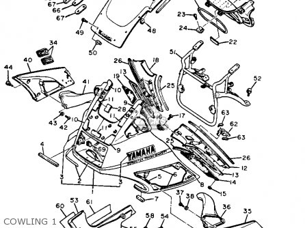 Yamaha Fj1200 1986 Usa parts list partsmanual partsfiche