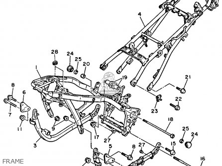fj1200 wiring diagram 7 pin trailer socket australia yamaha 1986 usa parts lists and schematics frame