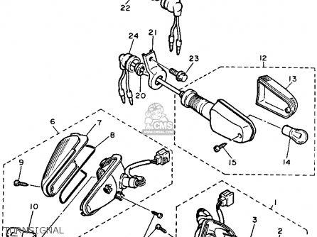 Yamaha Fj1200 1986 Usa parts list partsmanual partsfiche