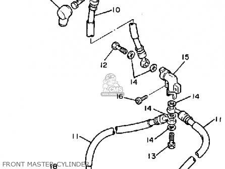 Yamaha Fj1200 1987 (h) Usa parts list partsmanual partsfiche