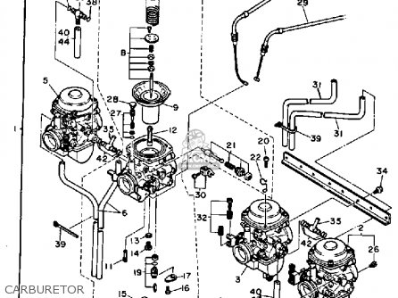 Yamaha FJ1200 1987 USA parts lists and schematics