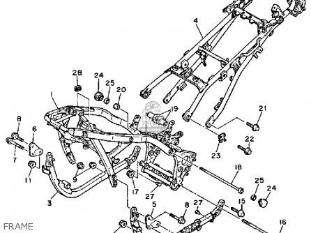 Yamaha Fj1200 1987 Usa parts list partsmanual partsfiche