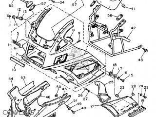 Yamaha Fj1200 1988 3cv1 England 283cv-310e1 parts list