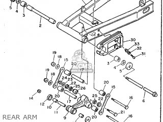 Yamaha FJ1200 1988 3CV1 ENGLAND 283CV-310E1 parts lists