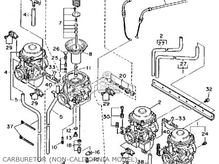 Yamaha Fj1200 1989 (k) Usa parts list partsmanual partsfiche