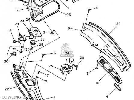 Yamaha Fj1200 1989 (k) Usa parts list partsmanual partsfiche