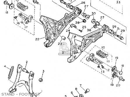 Yamaha FJ1200 1990 (L) USA parts lists and schematics