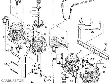 Yamaha Fj1200a 1990 parts list partsmanual partsfiche