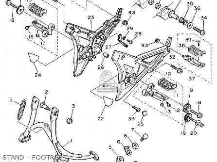 Yamaha Fj1200a 1992 (n) Usa parts list partsmanual partsfiche