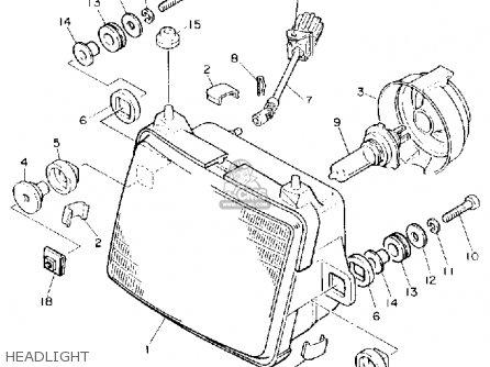 Yamaha Fj1200ac 1990 parts list partsmanual partsfiche