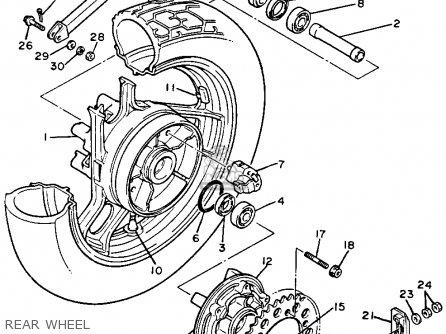 Yamaha Fj1200c 1986 California parts list partsmanual
