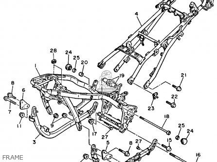 Yamaha Fj1200sc 1986 parts list partsmanual partsfiche