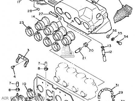 Yamaha Fj1200t 1987 parts list partsmanual partsfiche